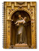 Baby Jesus And A Monk Sculpture Spiral Notebook