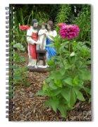 Baby Jesus In Garden Spiral Notebook