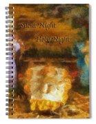 Baby Jesus Silent Night Photo Art Spiral Notebook