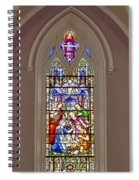 Baby Jesus Stained Glass Window Spiral Notebook