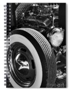 Baby Moons Bw Spiral Notebook