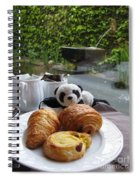 Baby Panda And Croissant Rolls Spiral Notebook