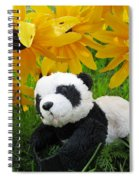 Baby Panda Under The Golden Sky Spiral Notebook