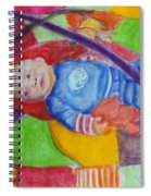 Baby Ted In Motion Portrait  Spiral Notebook