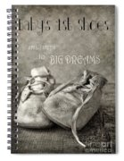 Baby's First Shoes Spiral Notebook