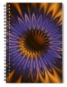 Bachelor Button Mandala Spiral Notebook