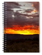 Back Country Sunset Spiral Notebook