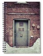 Back Door Alley Way Spiral Notebook