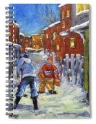 Back Lane Hockey Shoot Out By Prankearts Spiral Notebook