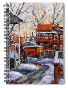 Back Lanes 02 Montreal By Prankearts Spiral Notebook