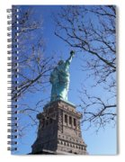 Back Of Liberty Spiral Notebook
