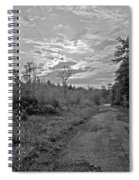 Back Road At Sunset Pocono Mountains Pennsylvania Spiral Notebook