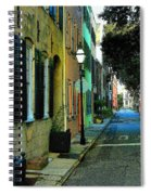 Back Street In Charleston Spiral Notebook