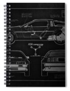 Back To The Future Delorean Blueprint 1 Spiral Notebook
