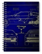 Back To The Future Delorean Blueprint 2 Spiral Notebook
