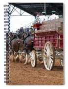 Back View Anheuser Busch Clydesdales Pulling A Beer Wagon Usa Spiral Notebook