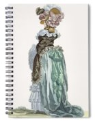 Back View Of A Promenade Gown, Engraved Spiral Notebook
