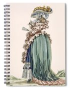 Back View Of Ladys Dress, Engraved Spiral Notebook