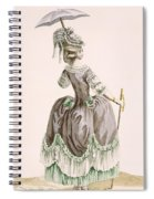 Back View Of Ladys Grey Promenade Spiral Notebook