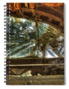 Back Window Of Antique Car Spiral Notebook