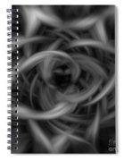 Background Flames Bw Dark Spiral Notebook