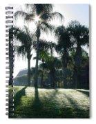 Backlit Palms Spiral Notebook