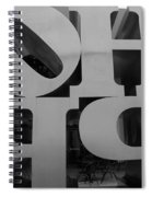 Backside Of Hope In Black And White Spiral Notebook