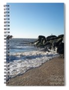 Backwash On Sunset Beach Cape May Spiral Notebook