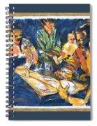Backyard Bid Whiss By Summer Night Light Spiral Notebook
