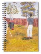 Backyard Cricket Under The Hot Australian Sun Spiral Notebook