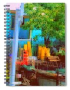 Backyard In Bright Colors Spiral Notebook