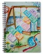 Backyard Play Simple Times Spiral Notebook