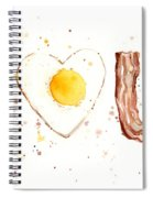 Bacon And Egg I Love You Spiral Notebook