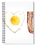 Bacon And Egg Love Spiral Notebook