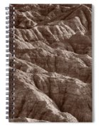 Badlands Light Bw Spiral Notebook