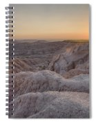 Badlands Overlook Sunset Spiral Notebook