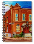 Bagg And Clark Street Synagogue Spiral Notebook