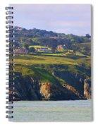 Baily Lighthouse Panorama 1 Spiral Notebook