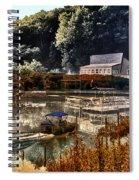 Bait Shop And Restaurant 02 Merged Image Spiral Notebook