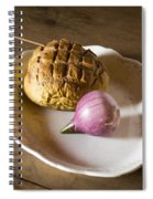 Baked Bread And Onion Spiral Notebook