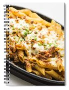 Baked Pasta With Meat And Cheese Spiral Notebook