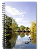 Bakewell Bridge - Over The River Wye Spiral Notebook
