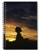 Balance Rock Arches National Park Spiral Notebook