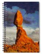 Balanced Rock At Sunset Digital Painting Spiral Notebook