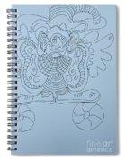 Balancing Clown - Doodle Spiral Notebook
