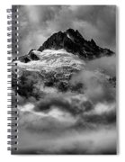 Balck And White Tantalus Peaks Spiral Notebook