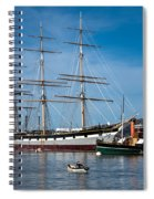 Rowing Past Balclutha And Steamship Eppleton Hall Spiral Notebook