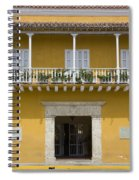 Balconied House At Plaza De La Aduana Spiral Notebook