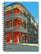 Balconies Painted Spiral Notebook