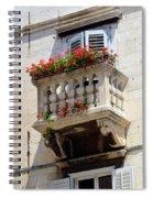 Balcony In Split Croatia Spiral Notebook